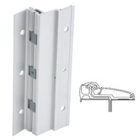 210XY-US28-95-SECWDWD IVES Adjustable Full Surface Continuous Geared Hinges with Security Screws - Hex Pin Drive in Satin Aluminum