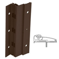 210XY-313AN-85-SECWDWD IVES Adjustable Full Surface Continuous Geared Hinges with Security Screws - Hex Pin Drive in Dark Bronze Anodized