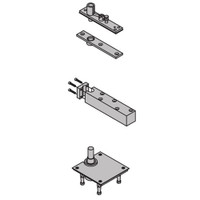 "7259-SET-SP28 IVES 7259 1-1/2"" Center Hung Top & Bottom Pivot in Sprayed Aluminum"