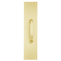 8311-5-US3-4x16 IVES Architectural Door Trim 4x16 Inch Pull Plate in Bright Brass