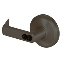 QCL251E613S5FLRLC Stanley QCL200 Series Less Cylinder Entrance/Office Lock with Sierra Lever Prepped for SFIC in Oil Rubbed Bronze Finish