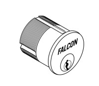 "986-G-626 Falcon Lock Mortise Cylinder, 1-1/4"", G Keyway, 5622-STD Cam, MA Series Except MA381 in Satin Chrome"