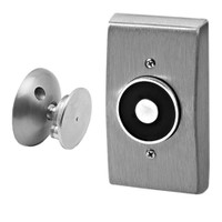 "2803-US28 DynaLock 2800 Series Flush Wall Mount Electromagnetic Door Holder for 1"" Extended Armature in Satin Aluminum"