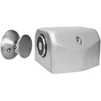 2801-US28 DynaLock 2800 Series Floor Mount Electromagnetic Door Holder for Single Door in Satin Aluminum