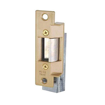 012-RS-24DC Trine Light Commercial Fail Safe ANSI 01 Series Electric Strikes in Brass Powder Finish