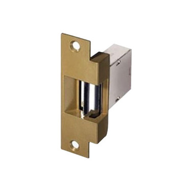 007-RS-24DC Trine Light Commercial Fail Safe Electric Strikes in Brass Powder Finish