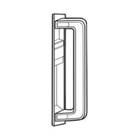 4413 Adams Rite Interior Grip Pull for 4189/4190 Series in Gray