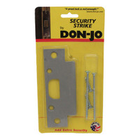 "2-SS-SL Don Jo 4-7/8"" Security Strike Plate in Silver Coated Finish"