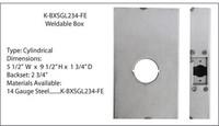 Keedex Weldable Gate box for Schlage FE