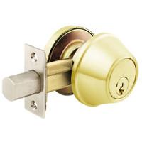 D61-03 Arrow Lock D Series Deadbolt in Bright Brass Finish