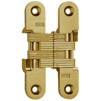 216-US4 Soss Invisible Hinge in Satin Brass Finish