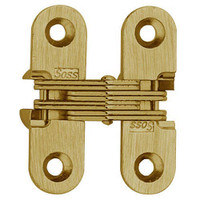 203C-US4 Soss Invisible Hinge in Satin Brass Finish