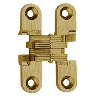 101C-US4 Soss Invisible Hinge in Satin Brass Finish