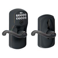 FE595-PLY-716-FLA Schlage Electrical Keypad Deadbolt Lock in Aged Bronze
