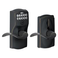 FE595-CAM-716-ACC Schlage Electrical Keypad Deadbolt Lock in Aged Bronze