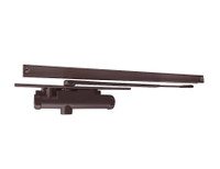 3131-H-Bumper-RH-DKBRZ LCN Door Closer Hold Open Track with Bumper in Dark Bronze Finish