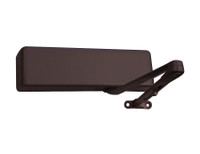 4021-H-LH-DKBRZ LCN Door Closer with Hold Open Arm in Dark Bronze Finish