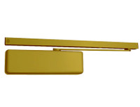4040XPT-BUMPER-BRASS LCN Door Closer Standard Track with Bumper Arm in Brass Finish