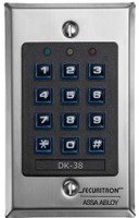 DK-38 Securitron Wiegand Digital Keypad in Narrow Stile in Satin Stainless Finish