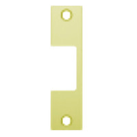 "R-605 Hes 4-7/8"" x 1-1/4"" Faceplate in Bright Brass Finish"