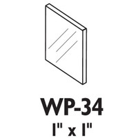 WP-34-625 Don Jo Door Flip Guard in Polished Chrome Finish
