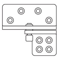 HRP-1-LHR-626 Don Jo Hinge Reinforcing Pivot in Satin Chrome Finish