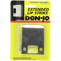 "9115-605 Don Jo 2-1/4"" Extended Lip Strike in Bright Brass Finish"