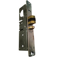 4510-35-101-313 Adams Rite Standard Deadlatch with flat faceplate in Dark Bronze Anodized Finish