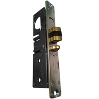 4510-36-201-335 Adams Rite Standard Deadlatch with flat faceplate in Black Anodized Finish