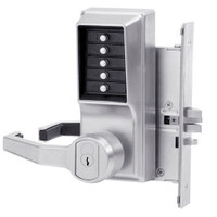 Simplex Pushbutton Lock in Satin Chrome Finish