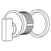 4066-01-628 Adams Rite Thumbturn Cylinder in Clear Anodized