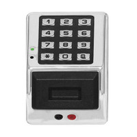PDK3000-MS Alarm Lock Trilogy Electronic Narrow Style Digital Lock in Metallic Silver Finish