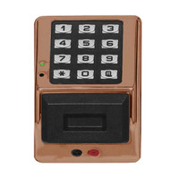 PDK3000-MB Alarm Lock Trilogy Electronic Narrow Style Digital Lock in Metallic Bronze Finish