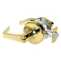 AL80PD-SAT-605 Schlage Saturn Cylindrical Lock in Bright Brass
