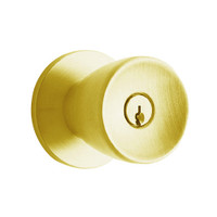 D72PD-TUL-605 Schlage Tulip Cylindrical Lock in Bright Brass