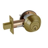 B662P-609 Schlage B660 Bored Deadbolt Locks in Antique Brass