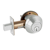 B662P-619 Schlage B660 Bored Deadbolt Locks in Satin Nickel