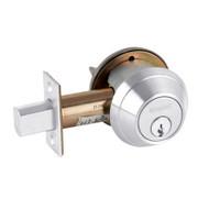 B662P-625 Schlage B660 Bored Deadbolt Locks in Bright Chromium Plated