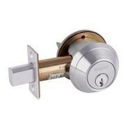 B662P-626 Schlage B660 Bored Deadbolt Locks in Satin Chromium Plated