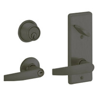 S270PD-JUP-613 Schlage S270PD Jupiter Style Interconnected Lock in Oil Rubbed Bronze