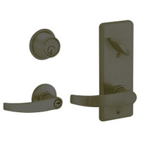S280PD-NEP-613 Schlage S280PD Neptune Style Interconnected Lock in Oil Rubbed Bronze