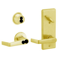 S270JD-SAT-605 Schlage S270PD Saturn Style Interconnected Lock in Bright Brass