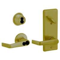 S270JD-SAT-609 Schlage S270PD Saturn Style Interconnected Lock in Antique Brass