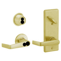 S280JD-SAT-606 Schlage S280PD Saturn Style Interconnected Lock in Satin Brass