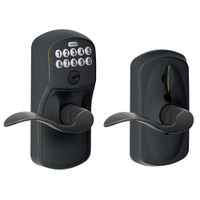 FE595-PLY-716-ACC Schlage Electrical Keypad Deadbolt Lock in Aged Bronze