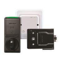 K100-622H-SE-B2 Hes Series Wireless Cabinet Lock in Black