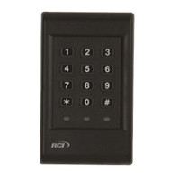 9325-e RCI Standalone Keypad Backlit Exterior Traffic Control in Black Finish