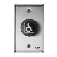 906TD-32D RCI Mushroom Push Button Electronic Time Delay Switch Mode in Brushed Stainless Steel Finish