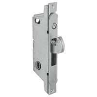 MS1847-02-630 Adams Rite MS Deadlock Radius Faceplate for Ultra-Narrow Stile Sliding Doors in Satin Stainless