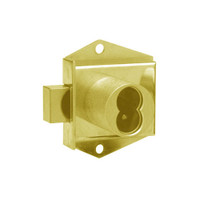 Olympus 725MD-DW-VH-US3 Cabinet Locks in Bright Brass Finish